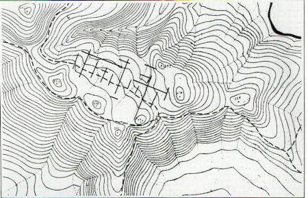 strade e sentieri dell'oppidum romano