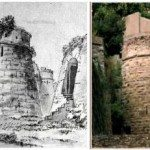 il Torrione Castagneta com'era nel '700 ed oggi