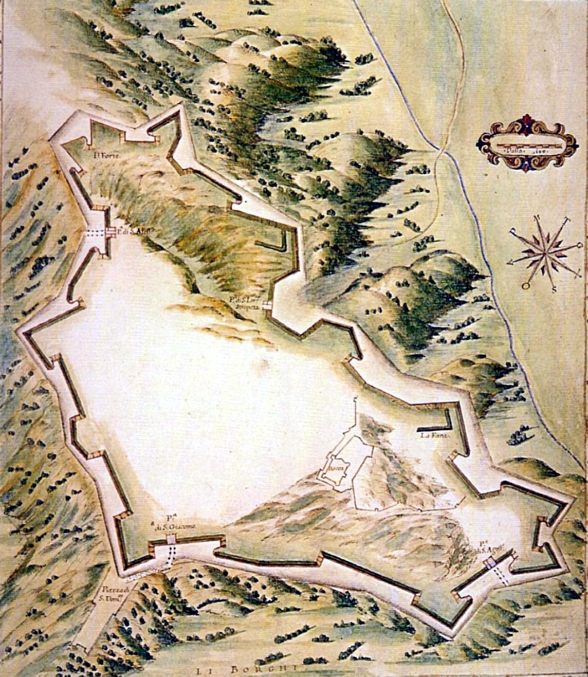 1590ca pianta cinta nuova - malacreda- Marciana VE