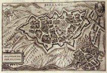 1599 mura nuove  -stampa xilografica P.Bertelli - Mai - Correr