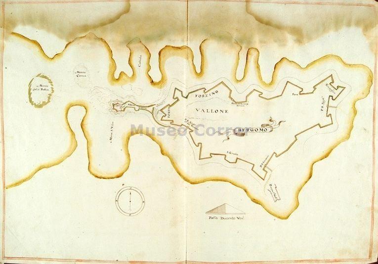 1620 carta geografica- Mura e colli  - Alessandri -  Correr
