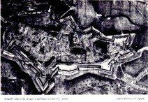 1650ca Bergamo -disegno acqurellato- palazzo Bonomi