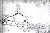 1650ca Mura e Cappella con cannoniere - bibl naz Parigi