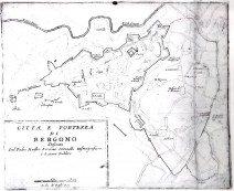 1696 mappa di BG di Coronelli