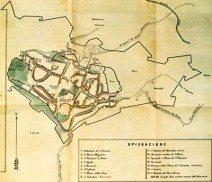 1870 Bergamo nei secoli IX e X - mappa A Mazzi