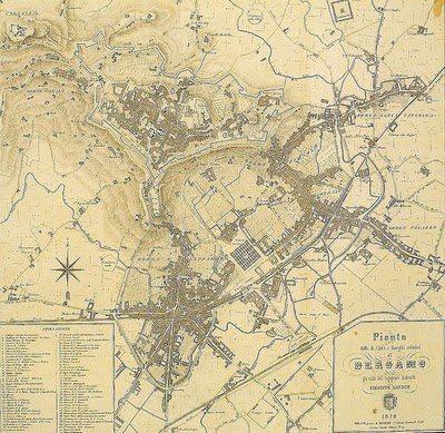 1878 terza edizione mappa Manzini