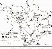 chiese e monasteri del 1600 - mappa L.Angelini 1952