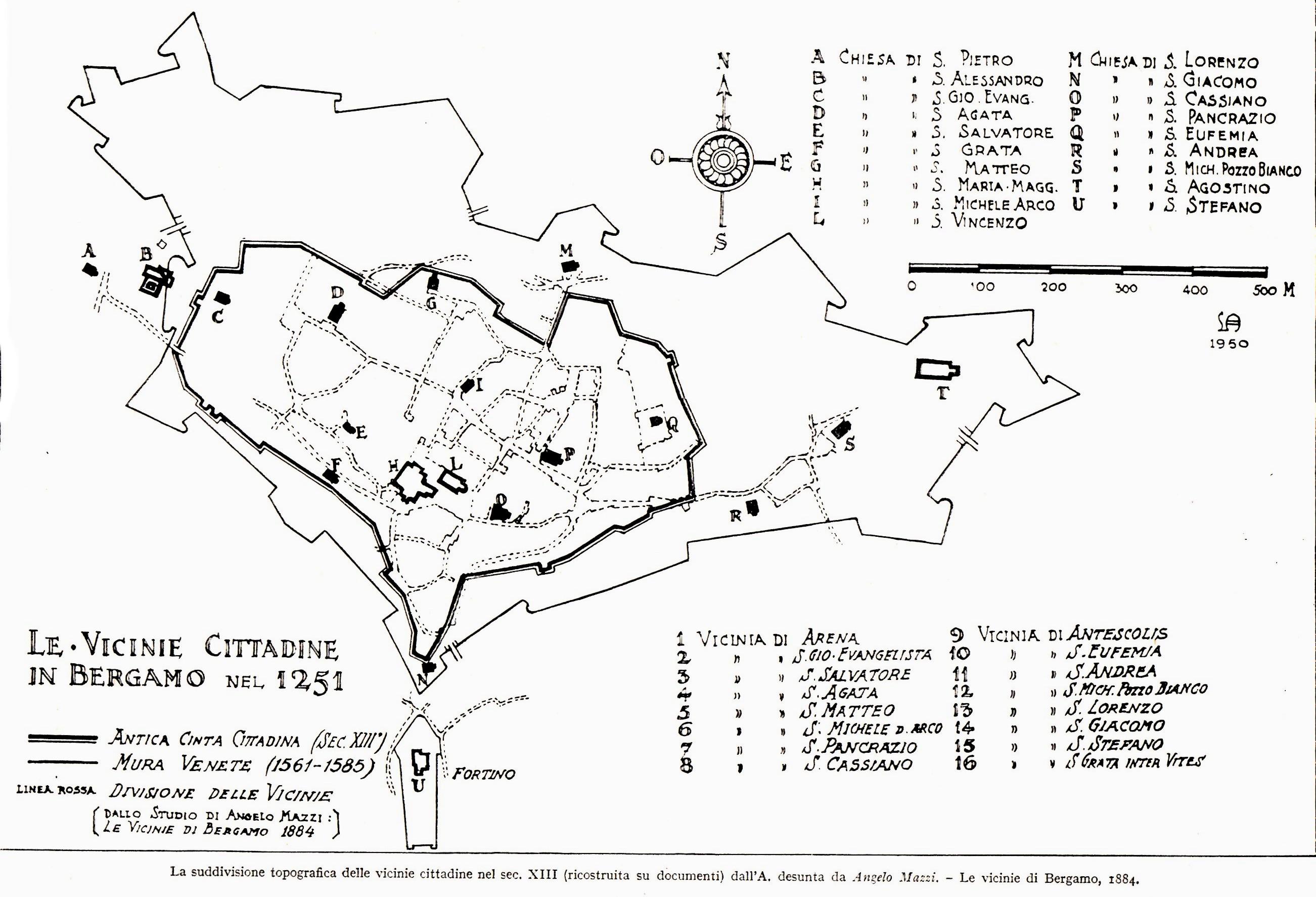 le vicinie - mappa L.Angelini 1952