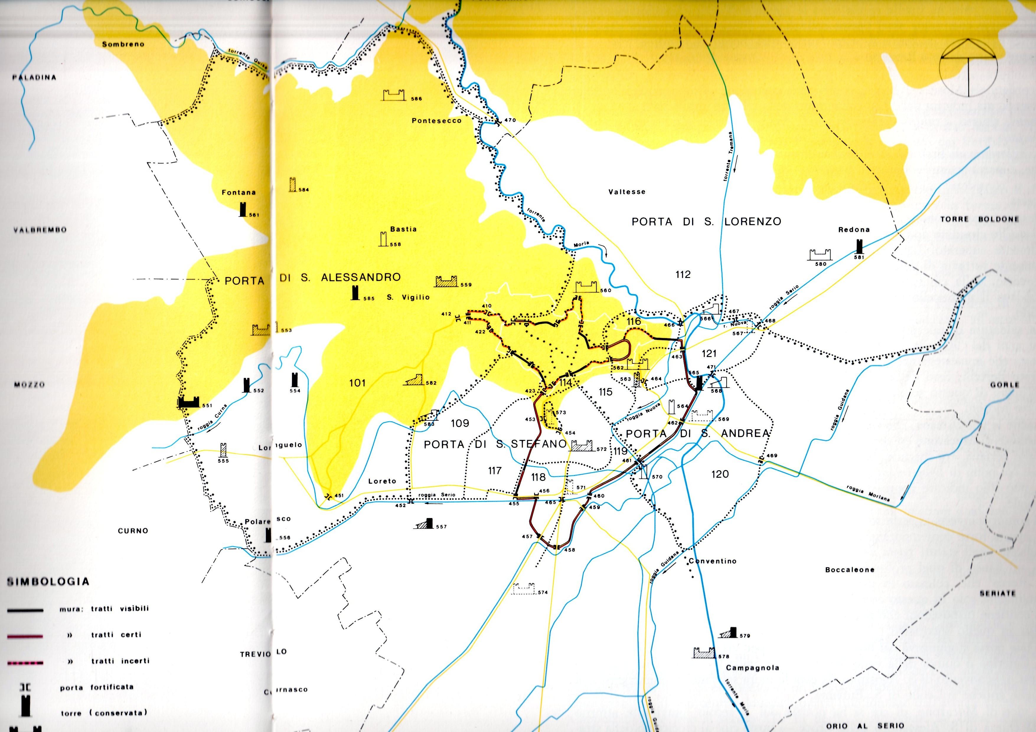 fortificazioni periferiche medievali e corsi d'acqua
