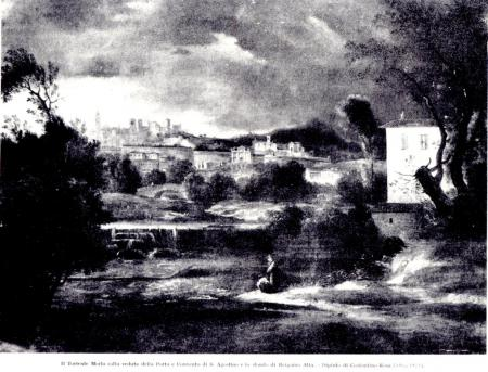 1835ca dipinto Costantino Rosa- vista da Valtesse