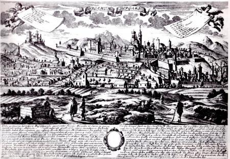 1720 - Bergamum - incisione su rame di G-Leopoldo.