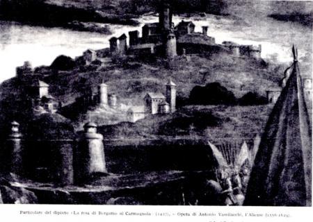 1580ca - la resa di Bergamo al Carmagnola del 1427