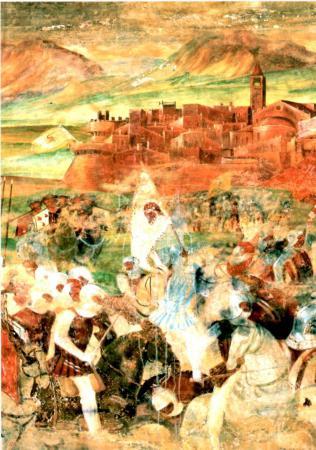 1510ca - da dipinto Romanino - battaglia Colleoni a Bergamo