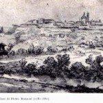 1810ca Bg Alta vista da Loreto - disegno P.Ronzoni -bibl.Mai