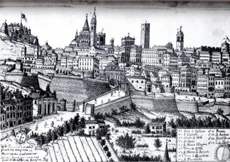 1650ca incisione dipinto J.Belotti