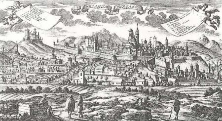 1740ca Bergamum da incisione Werner