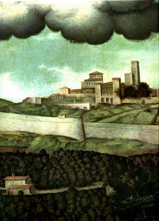 1585ca le Mura nuove nel dipinto di GP Olmo in S.Maria Maggiore