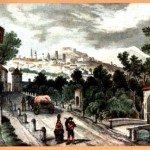 1840ca dalla via cremasca - disegno C.Grundmann