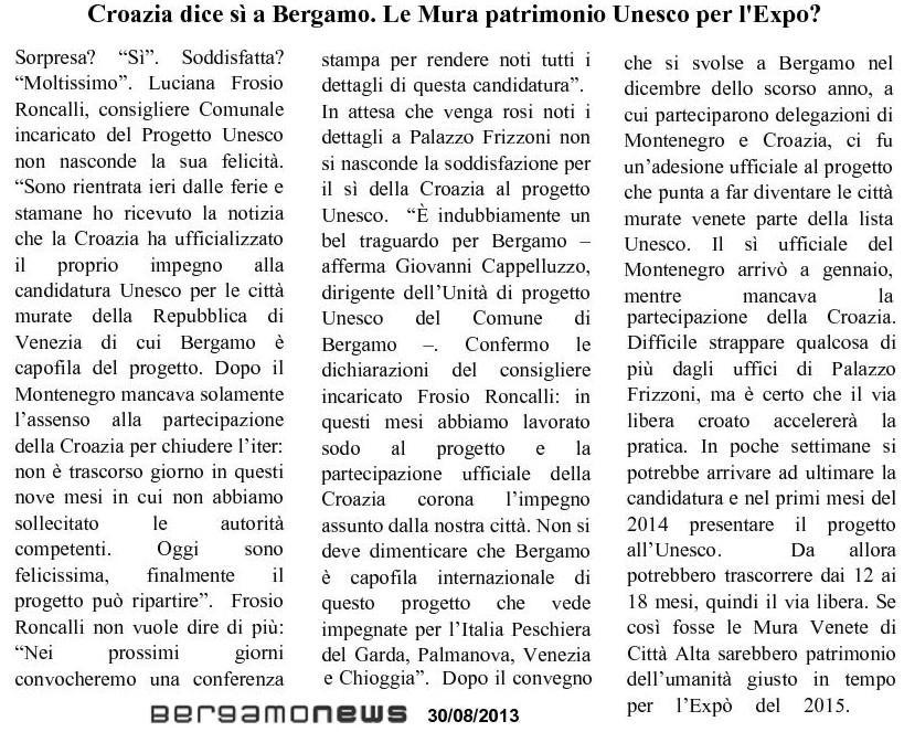 130831 UNESCO -firma Croazia - bgnews