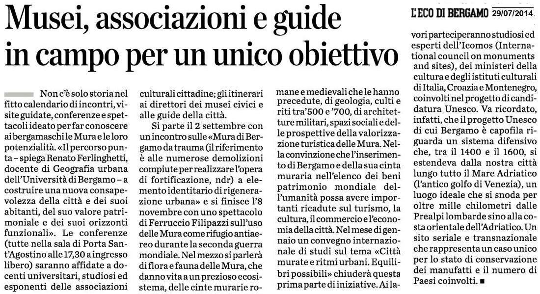 140729 UNESCO - nuova iniziativa - eco