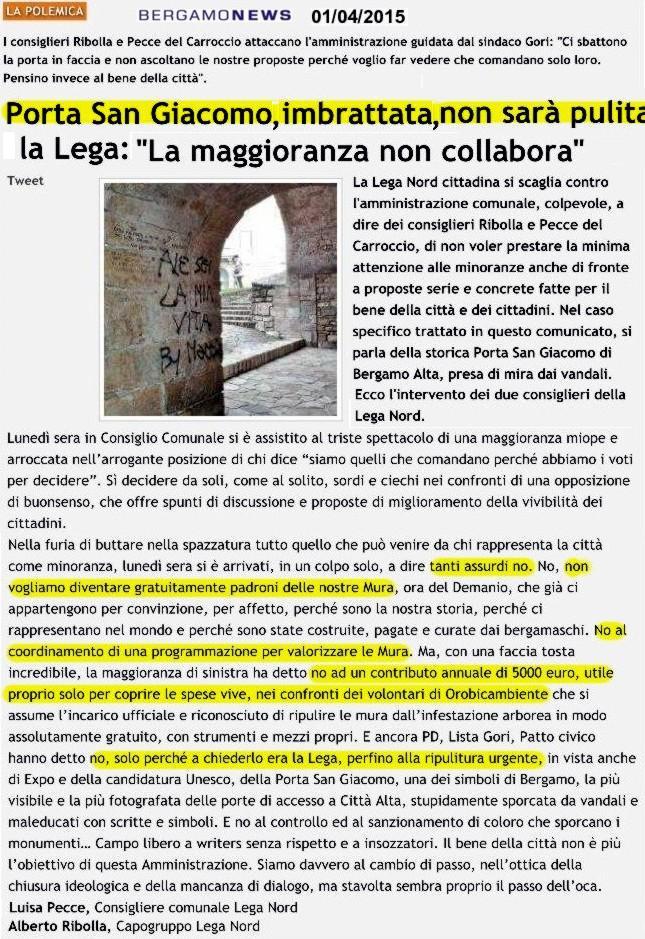 150401pulizia porta s-giacomo bgnews