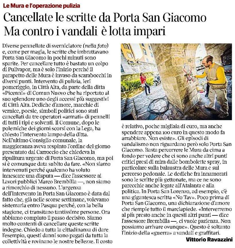150402 pulizia porta s-giacomo - corsera