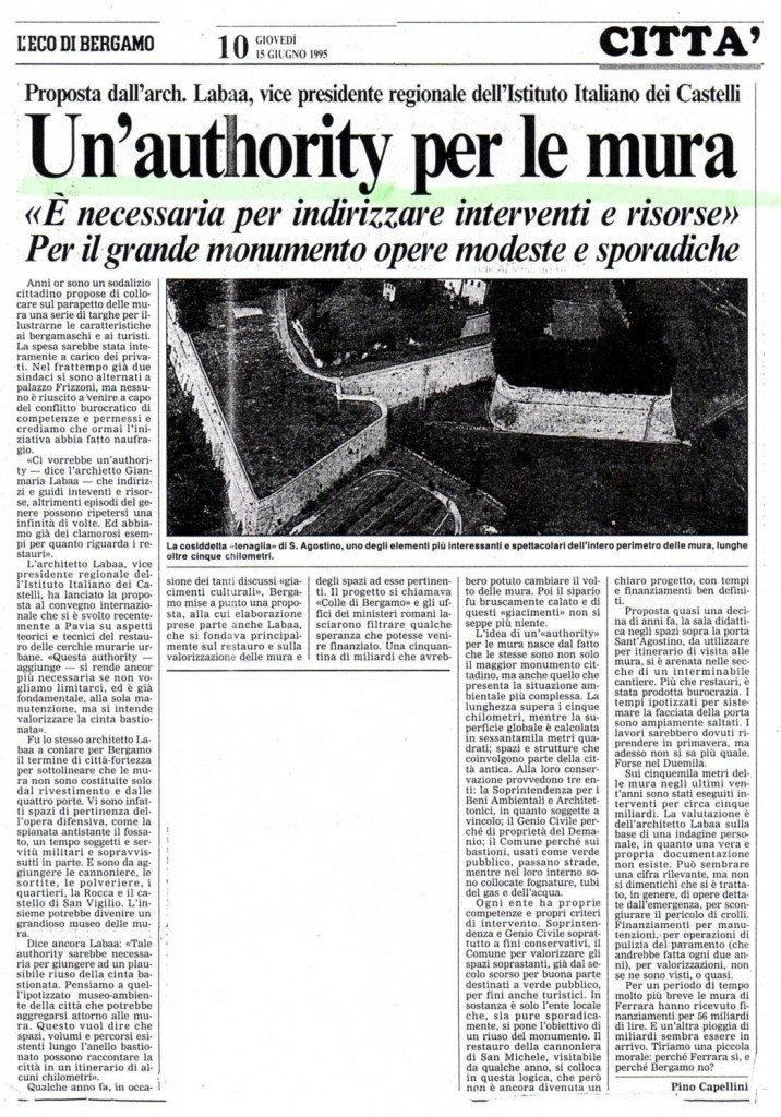 19950615 proposta Authority mura