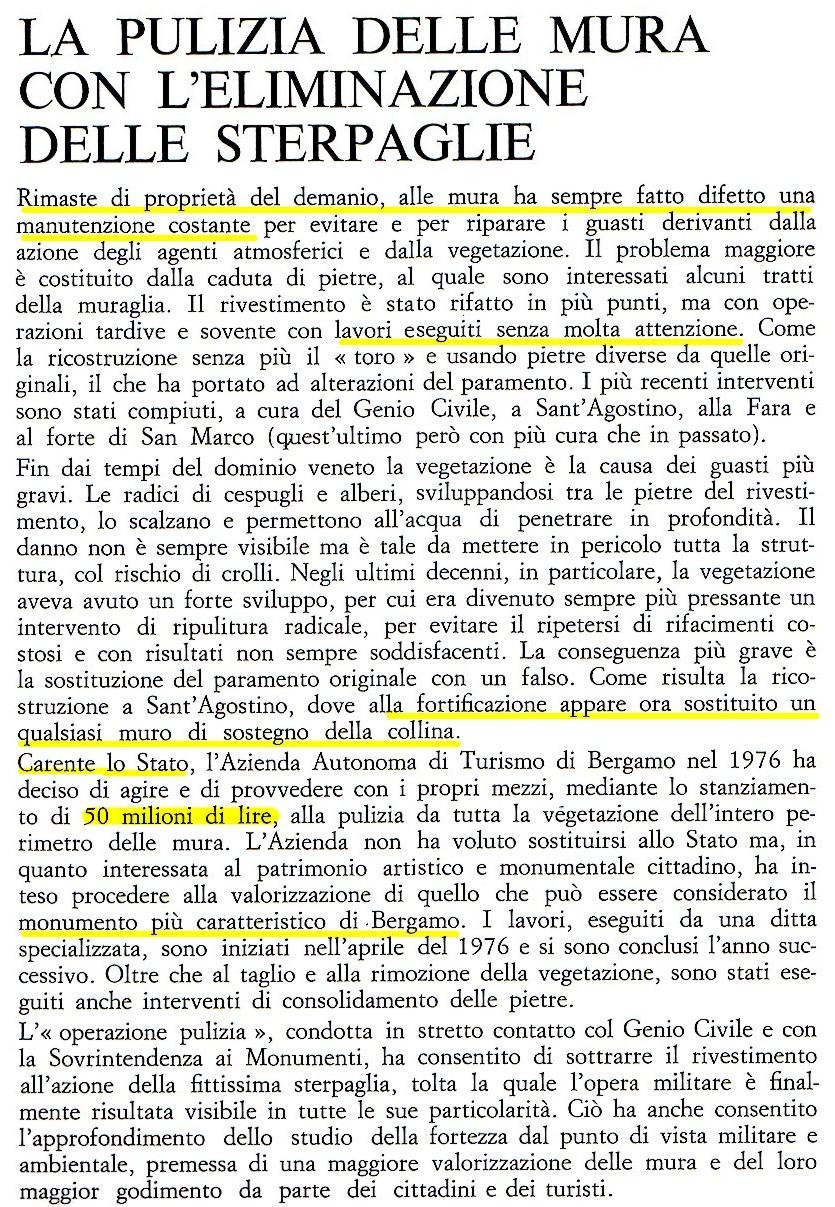 pulizia mura - 1977 -capellini