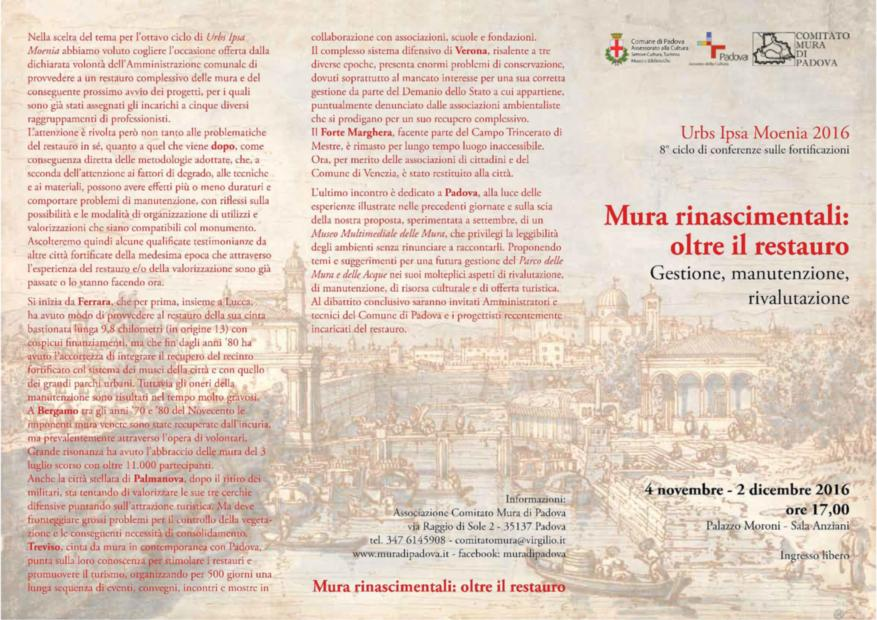 161104 conferenza città murate -Urbs Padova1