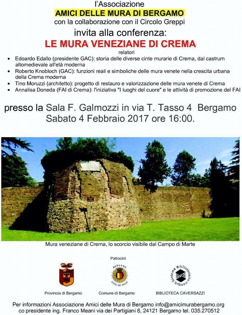 Locandina mura di Crema170204