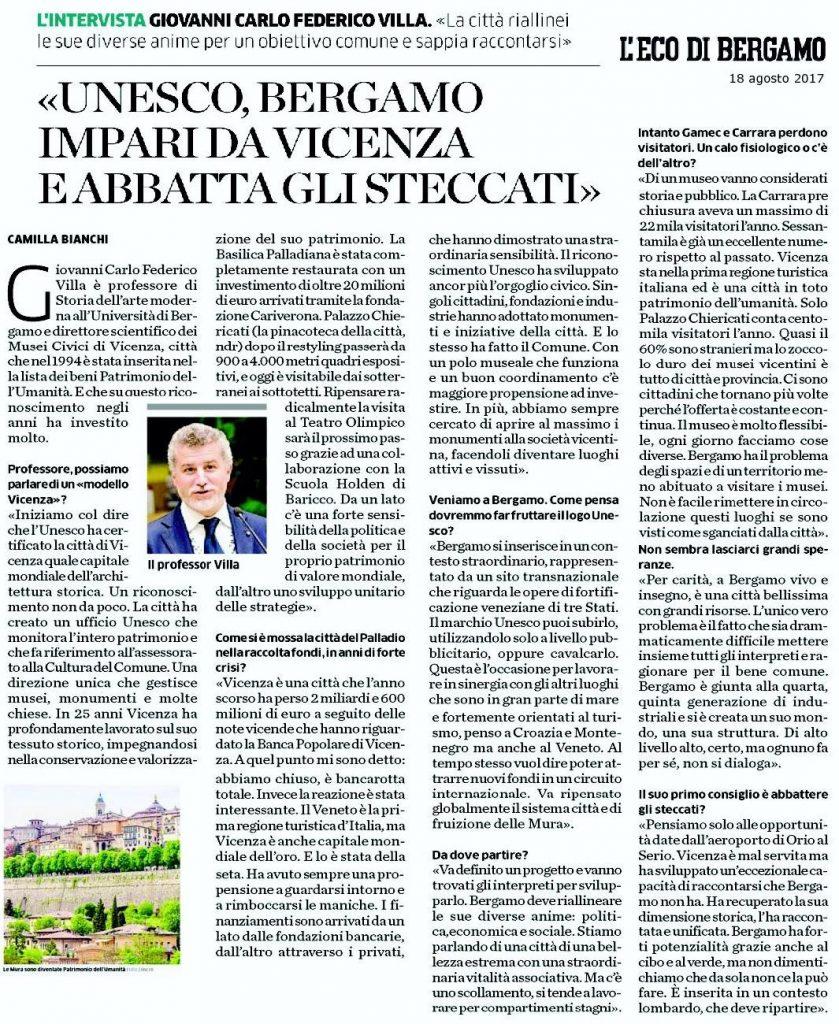 Mura veneziane nell'Unesco.... Bergamo deve imparare..