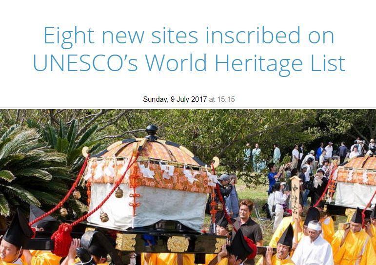 Unesco sito - 8 nuovi 2017
