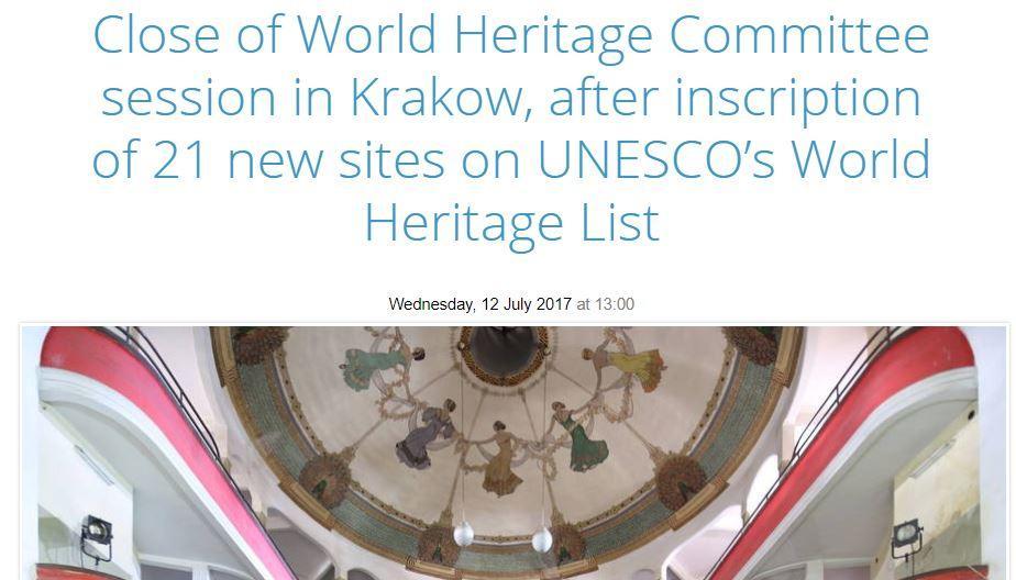 Unesco sito - cracovia 2017