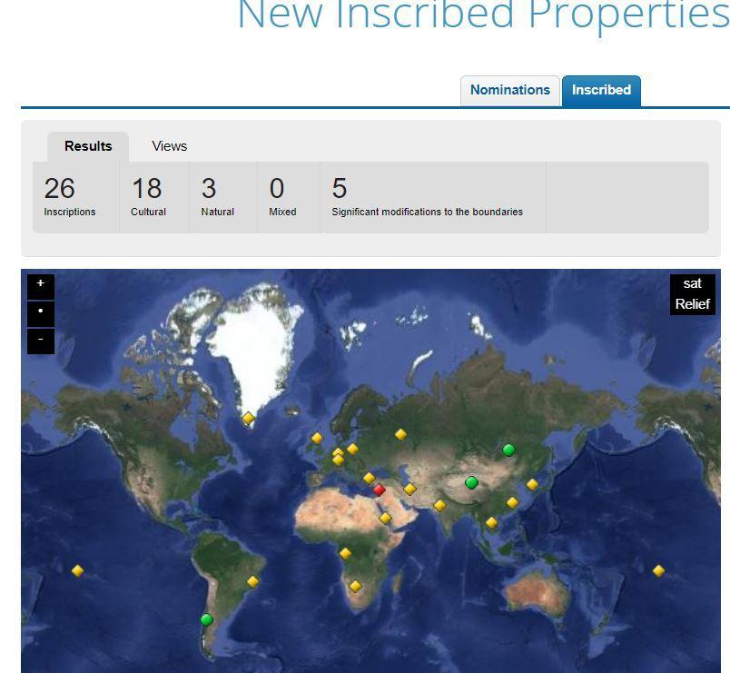 Unesco sito - nuovi 2017