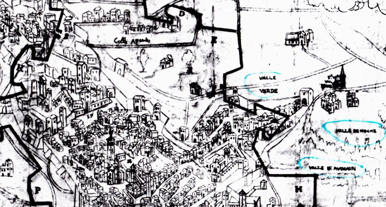 particolare mappa 1590