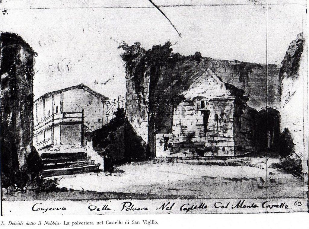 Polveriera Castello S.Vigilio - Deleidi 1820